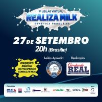 4° Leilão Realiza Milk será 27 de setembro